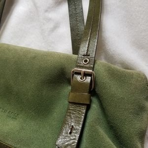 Kenneth Cole New York Baguette Suede Bag